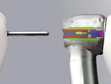 Turbine NSK Ti-Max Z900L : griffe bouton-poussoir
